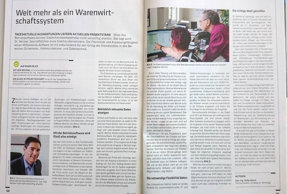 WellnerGmbH im Fachmagazin_das elektrohandwerk_11-2016