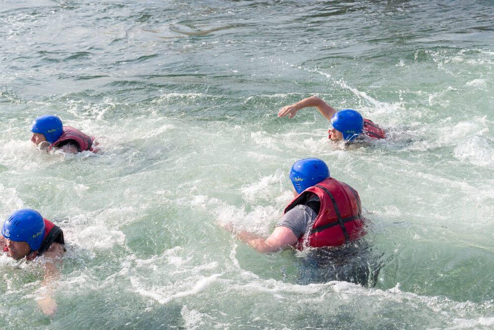 TEAMWellner Event 2016 - Rafting - Erfrischung Pur