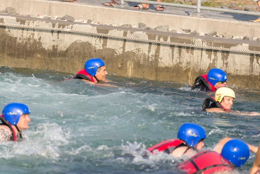 TEAMWellner Event 2016 - Rafting - Geplante Abkühlung