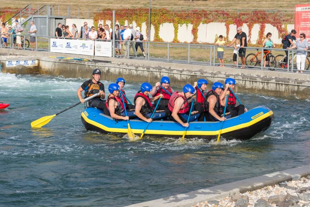 TEAMWellner Event 2016 - Rafting - Die Teambiker Als Zaungäste