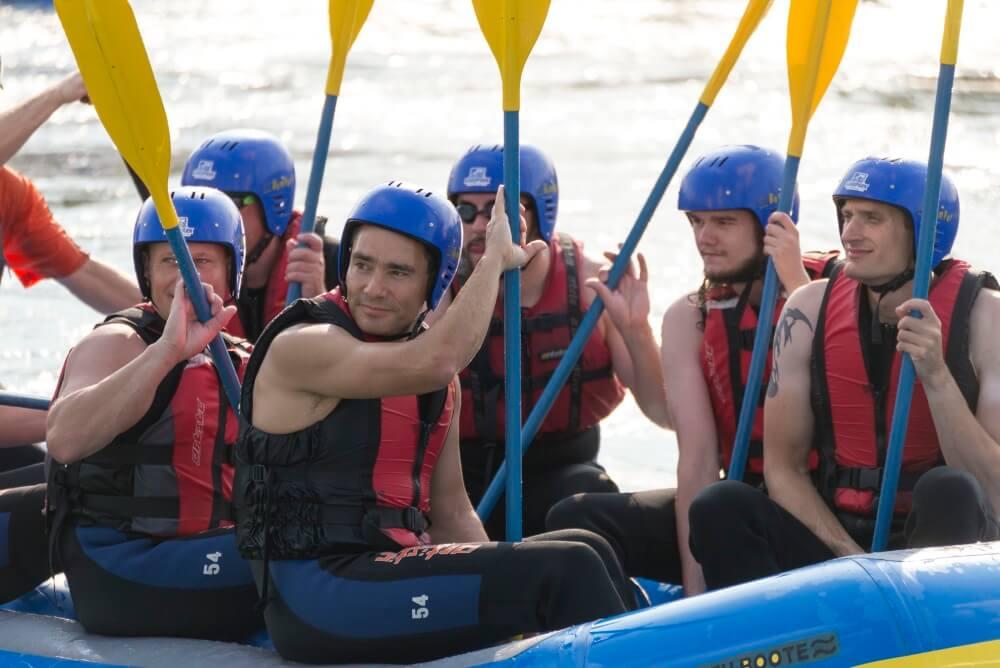 TEAMWellner-Event Rafting - Kurzes Entspannen