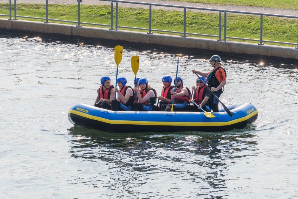 TEAMWellner Event 2016 - Rafting - Noch In Ruhigen Gewässern