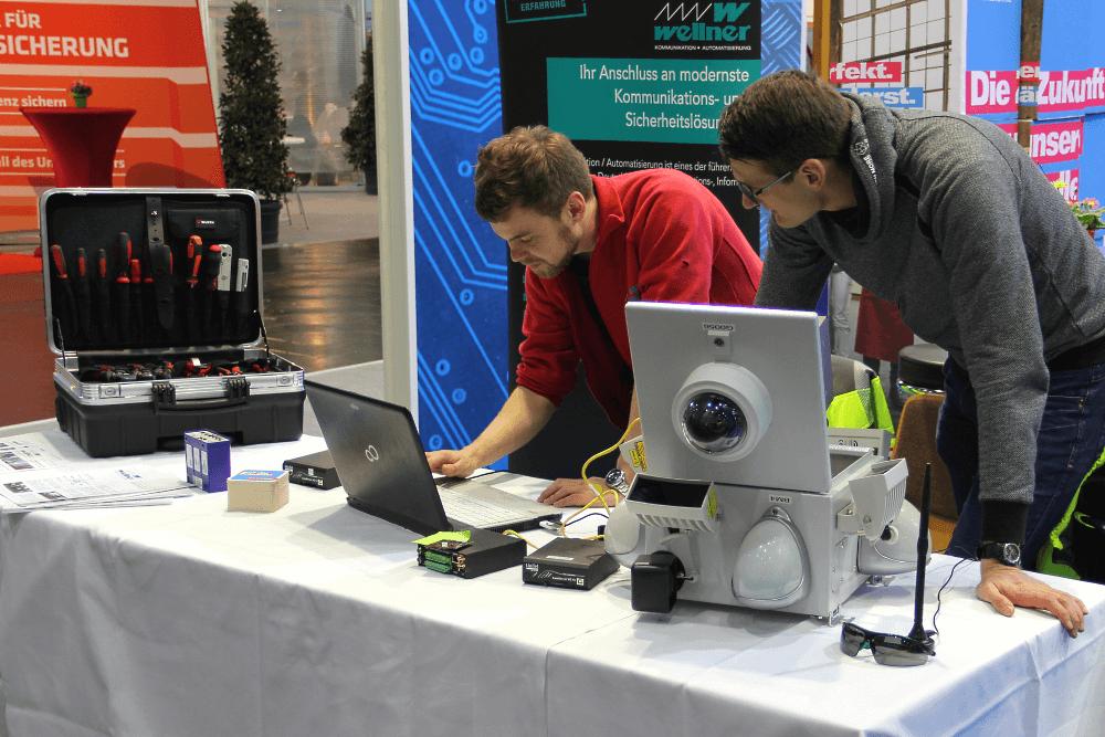 MItteldeutsche Handwerksmesse - Als Anschauungsobjekt diente u.a. der funktionsfähige Sensorkopf einer WellnerBOX.