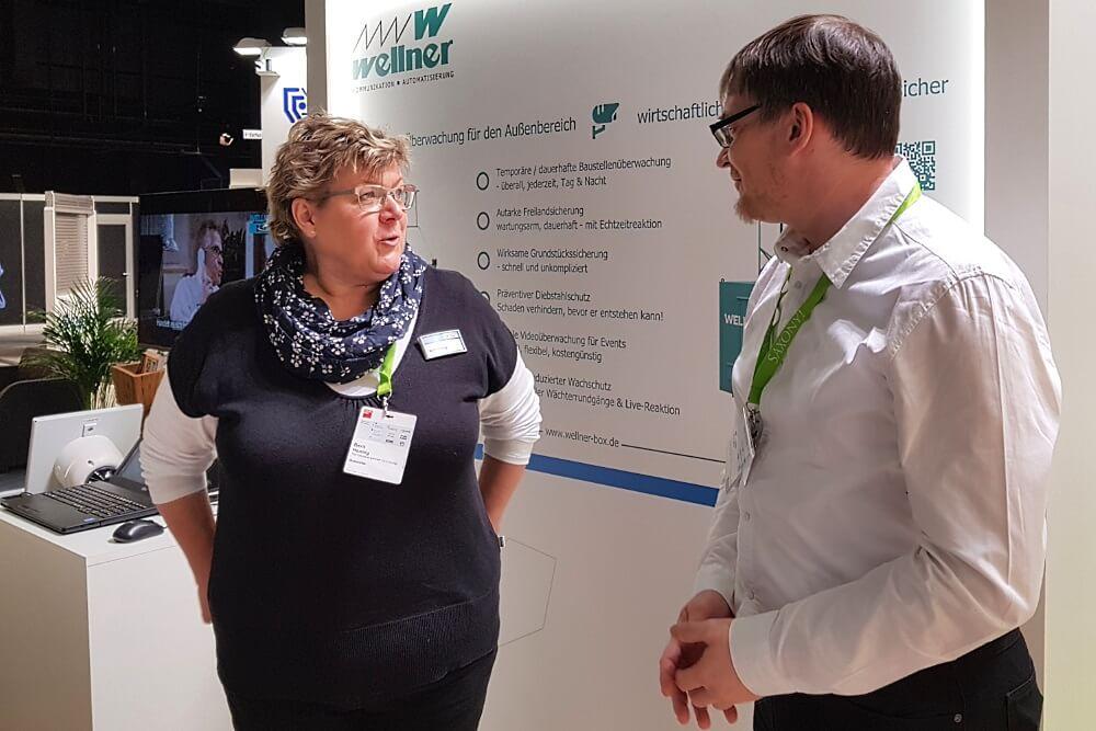 Kompetente Betreuung vor Ort: Frau Hennig von der HWK Leipzig