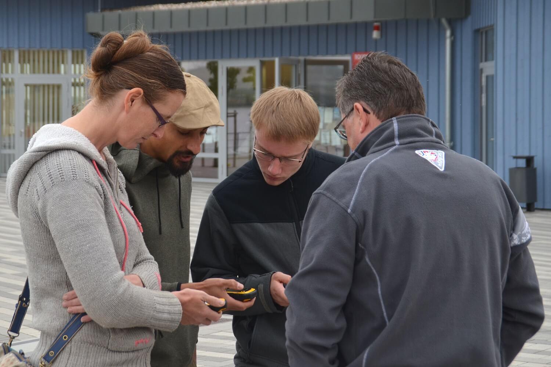 TEAMevent 2018 - Einweisung am GPS-Gerät