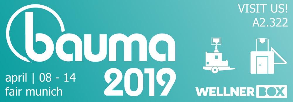 Visit us at BAUMA 2019