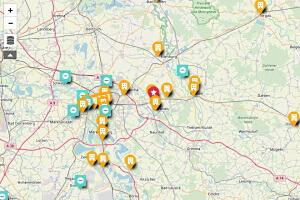 Kartenübersicht einiger Projekte by Wellner GmbH
